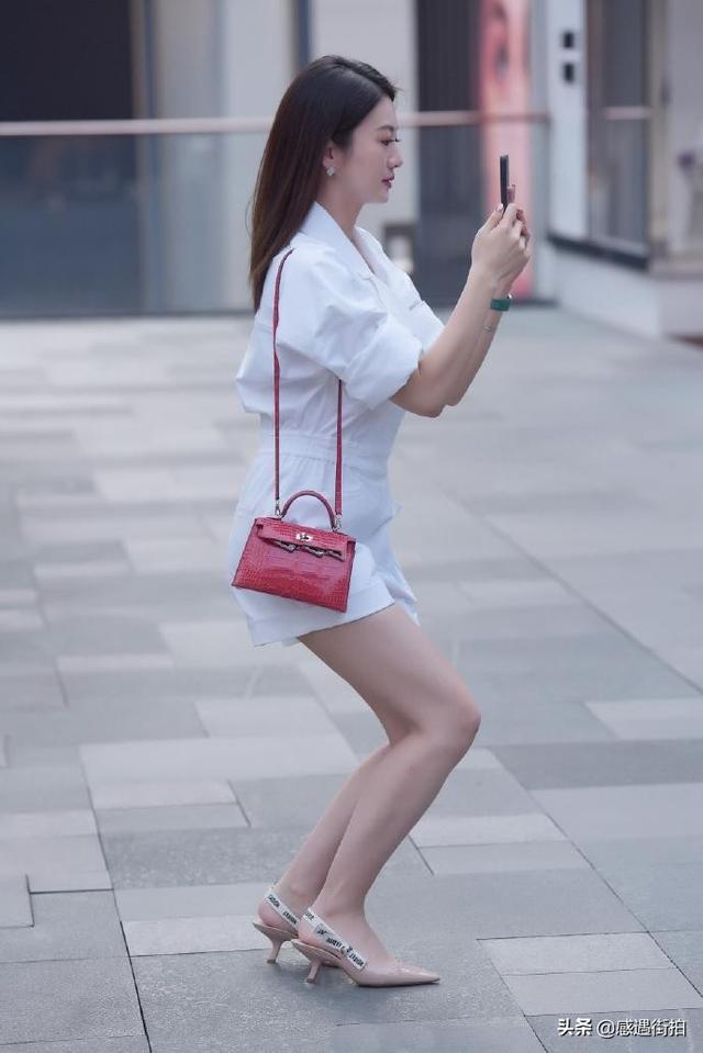 街拍:純白連衣褲,清麗又減齡,愛了嗎 正妹集中營 第3张